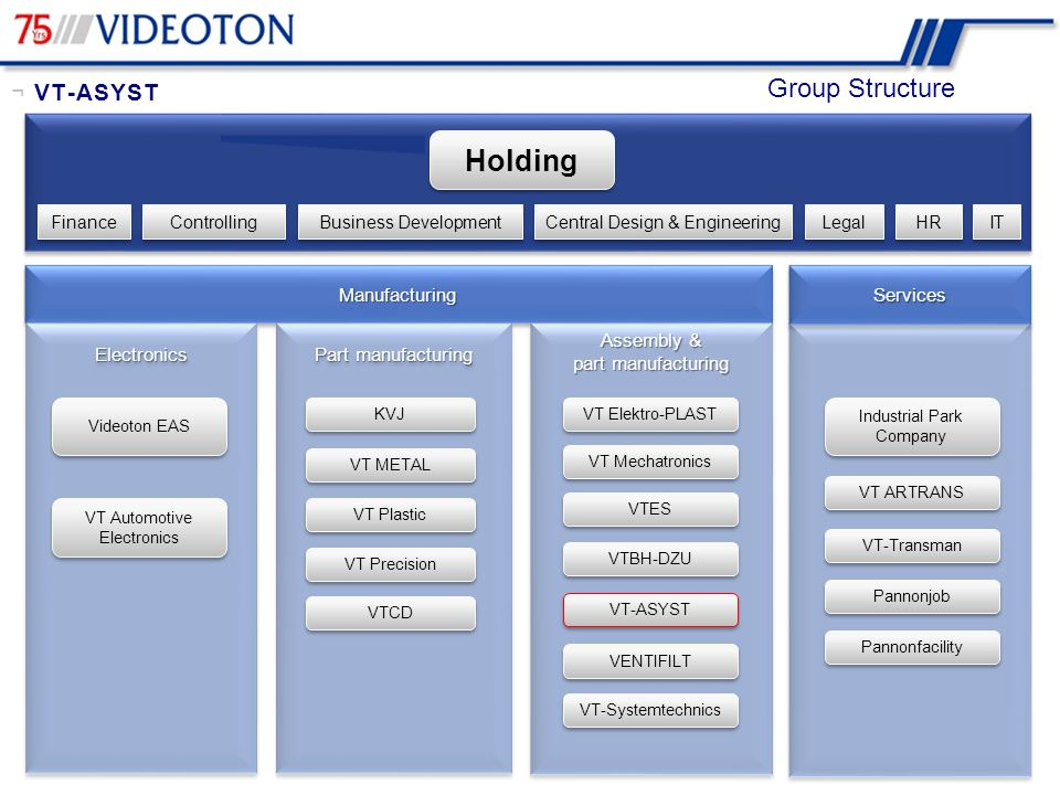 Holding Group Structure ¬ VT-ASYST Manufacturing Services Electronics