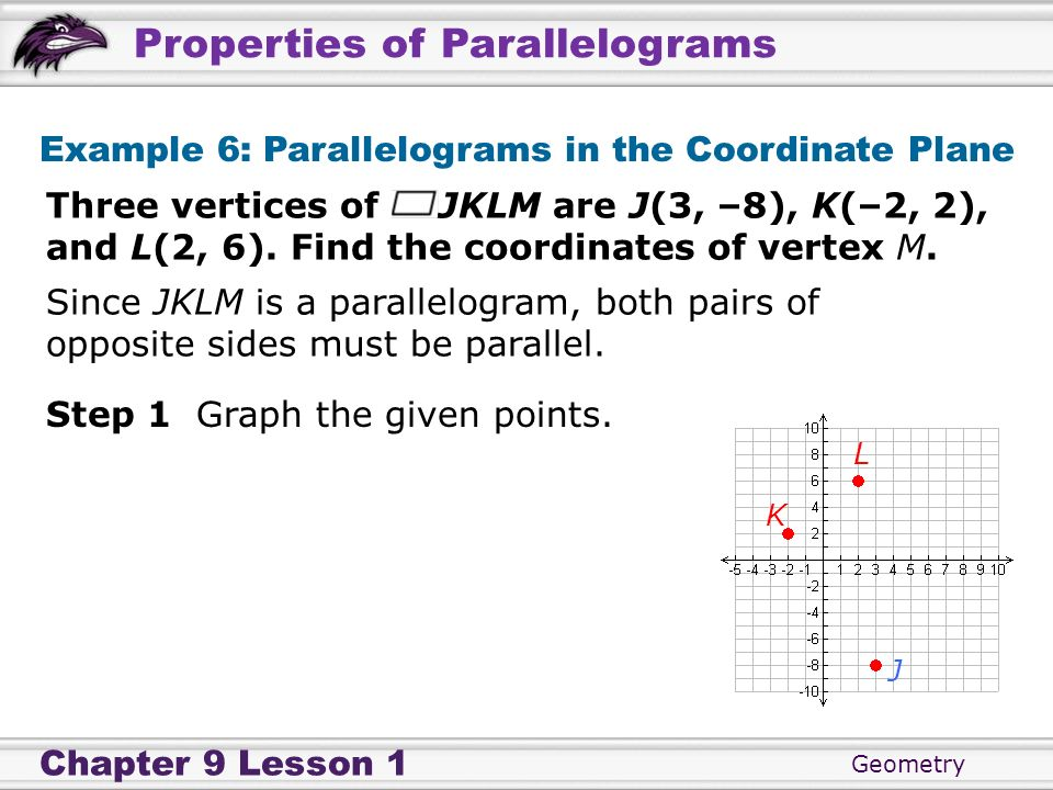 Example 6: Parallelograms in the Coordinate Plane