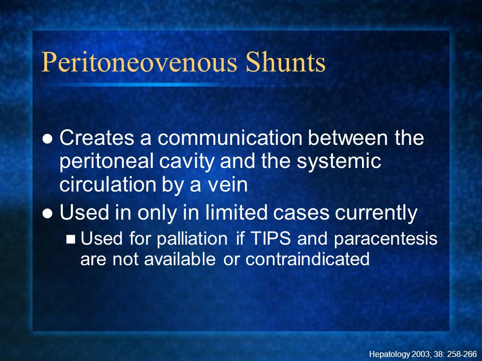 Peritoneovenous Shunts