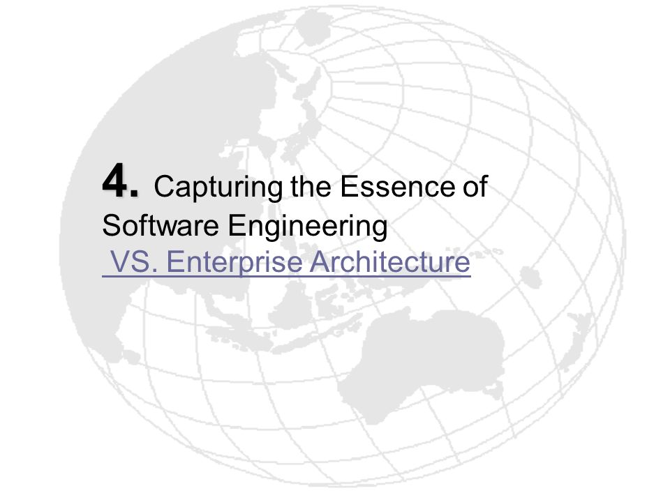 4. Capturing the Essence of Software Engineering VS