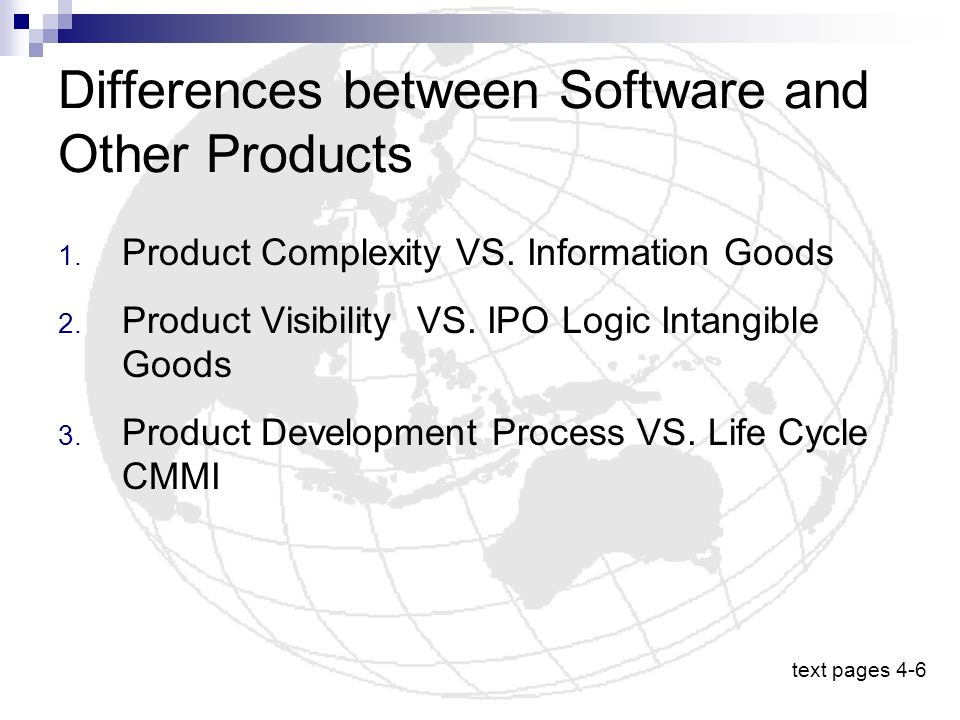 Differences between Software and Other Products
