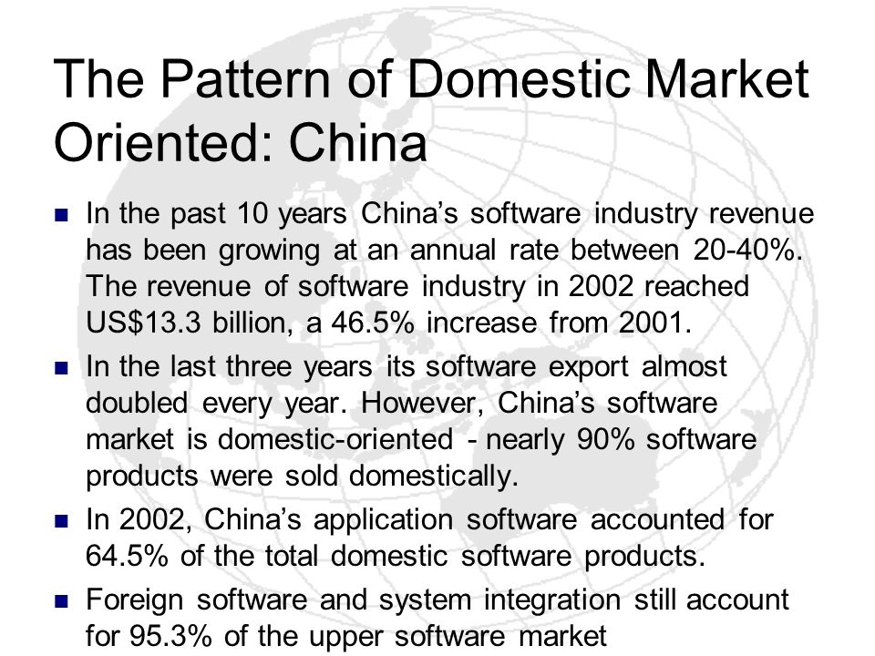 The Pattern of Domestic Market Oriented: China