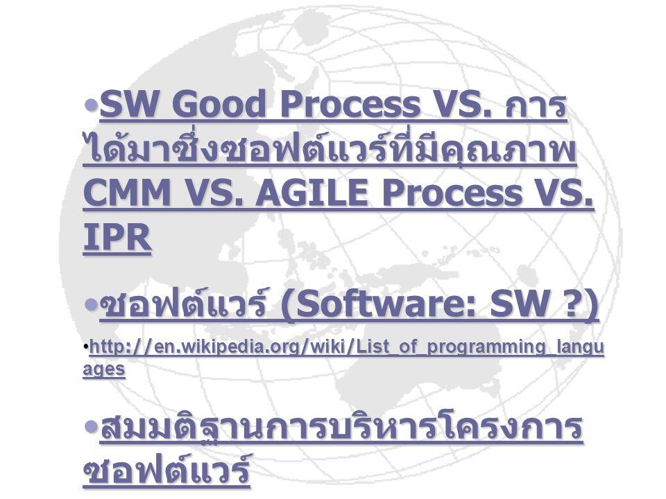 ซอฟต์แวร์ (Software: SW )