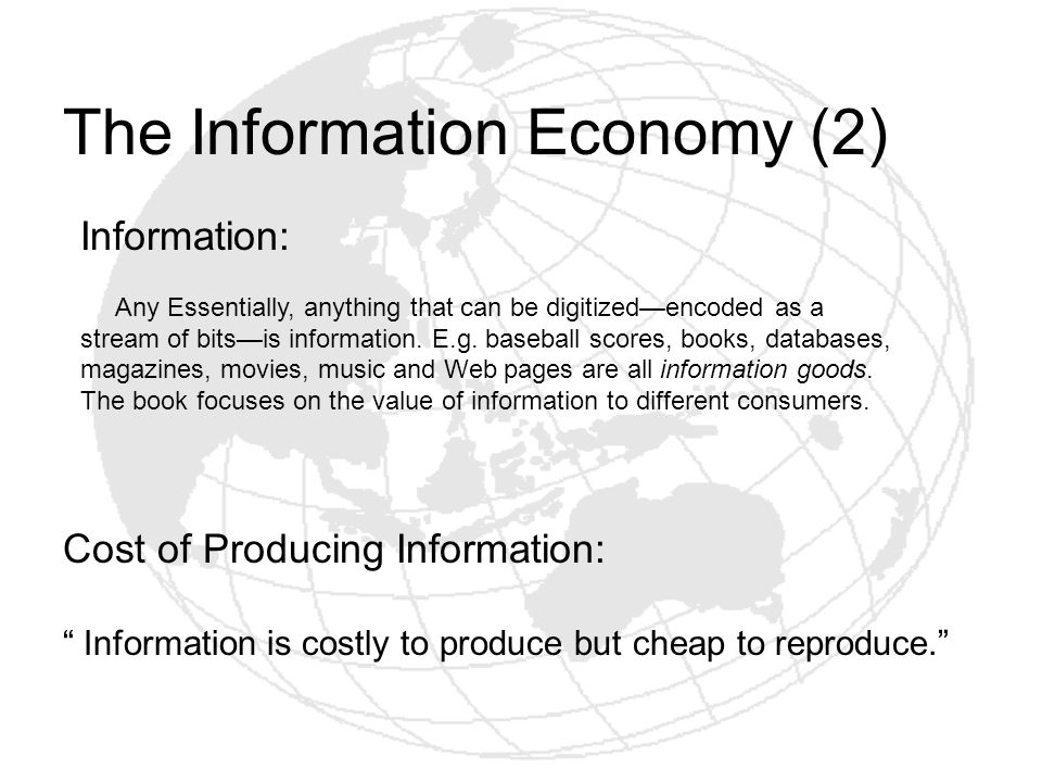 The Information Economy (2)