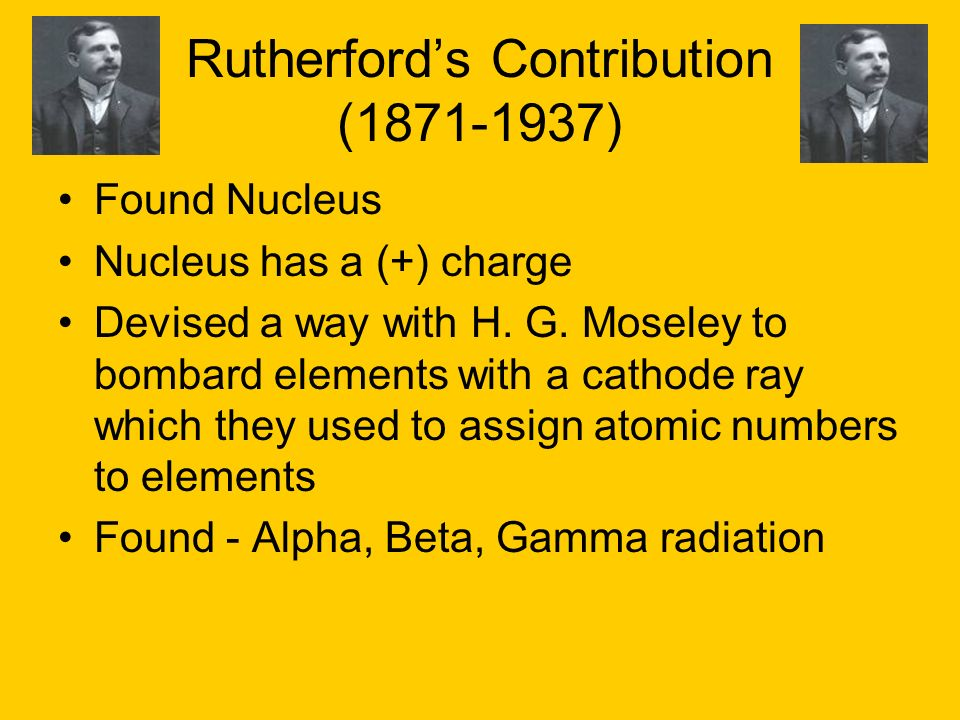 Rutherford's Contribution (1871-1937)