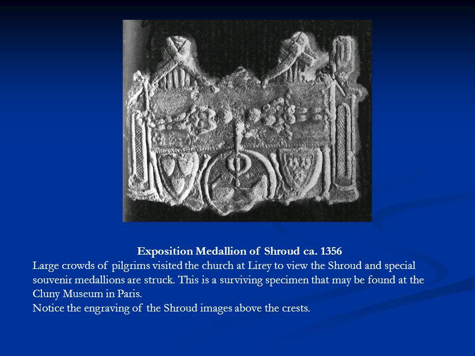 Exposition Medallion of Shroud ca. 1356