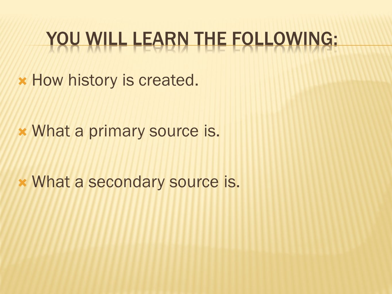 You will learn the following:
