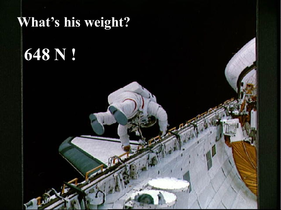 What's his weight 648 N !