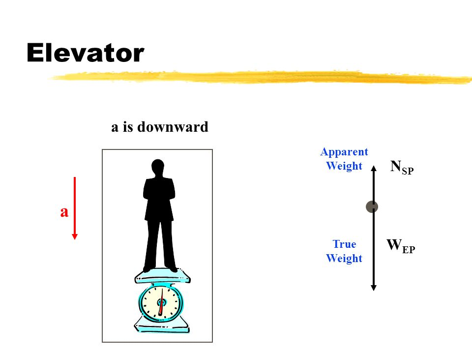 Elevator a is downward a Apparent Weight True Weight NSP WEP