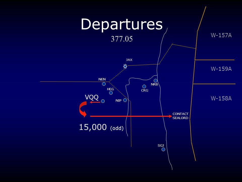 Departures 377.05 15,000 (odd) VQQ W-157A W-159A W-158A