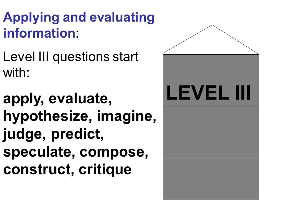 Applying and evaluating information: