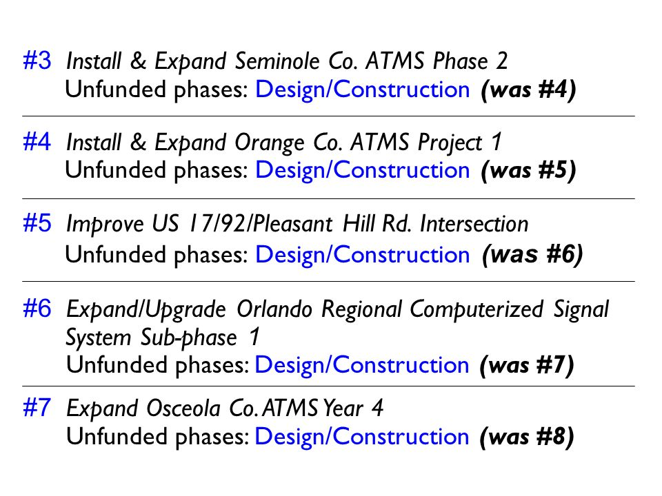 #3 Install & Expand Seminole Co