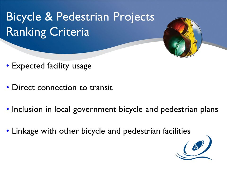 Bicycle & Pedestrian Projects Ranking Criteria