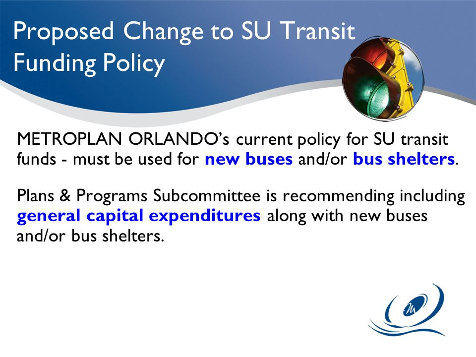 Proposed Change to SU Transit Funding Policy