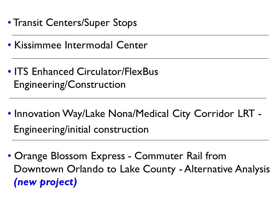 Transit Centers/Super Stops