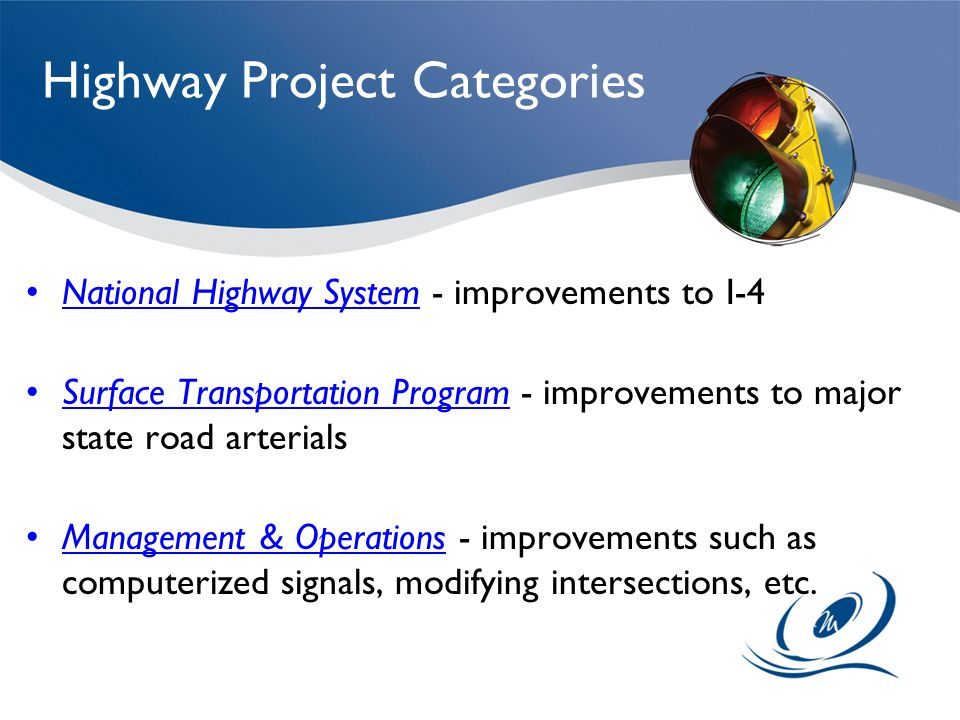 Highway Project Categories