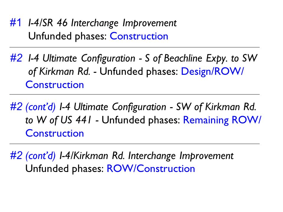 #1 I-4/SR 46 Interchange Improvement