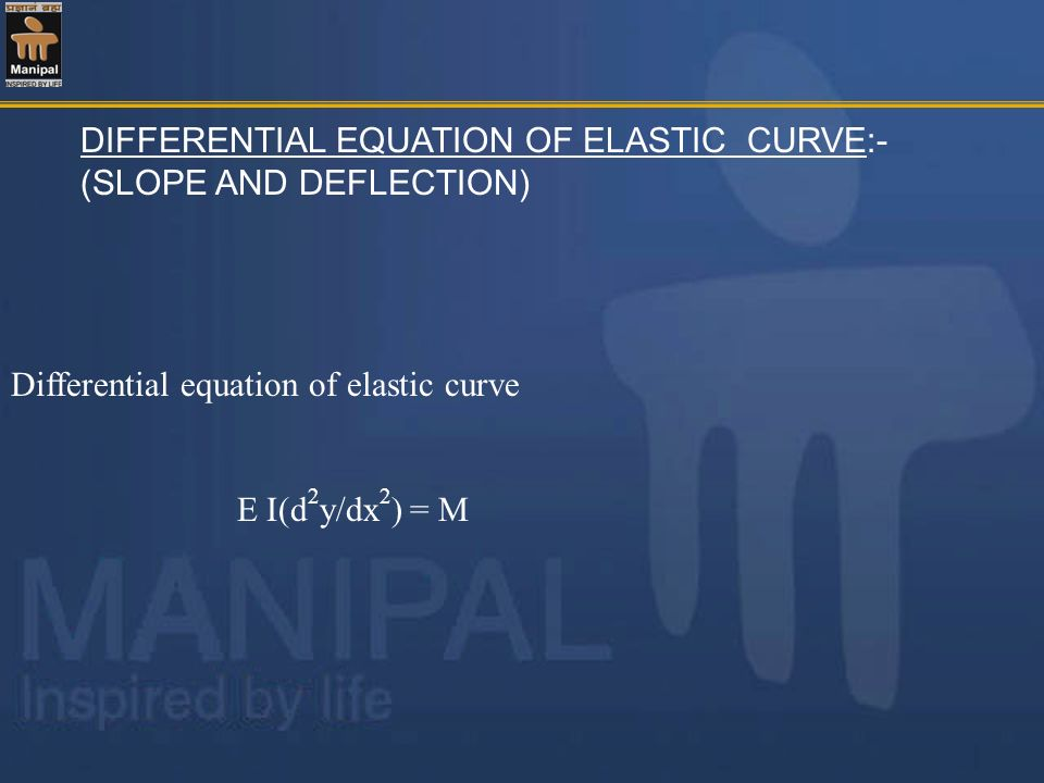 DIFFERENTIAL EQUATION OF ELASTIC CURVE:- (SLOPE AND DEFLECTION)