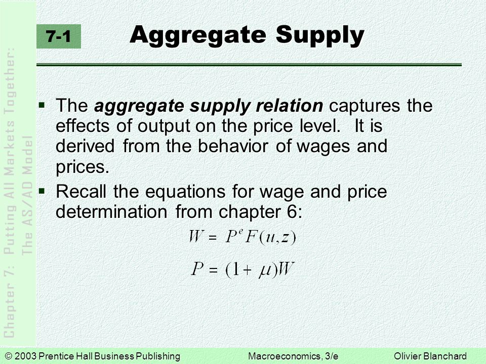 Aggregate Supply 7-1.