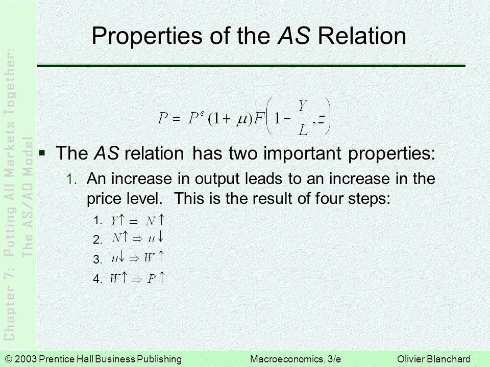 Properties of the AS Relation