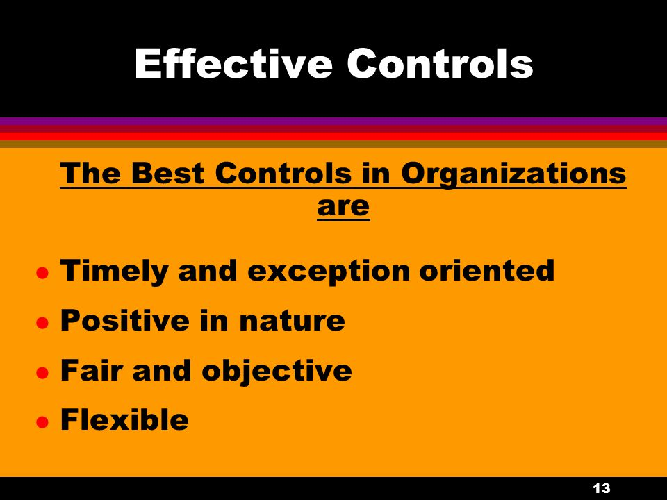 The Best Controls in Organizations are