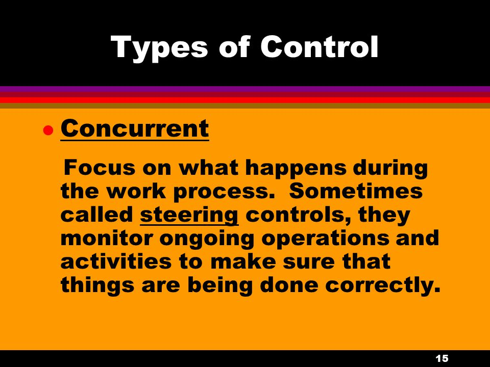 Types of Control Concurrent