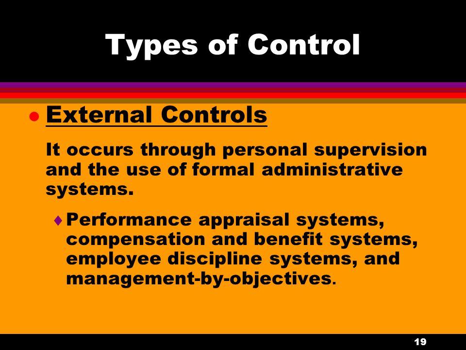 Types of Control External Controls