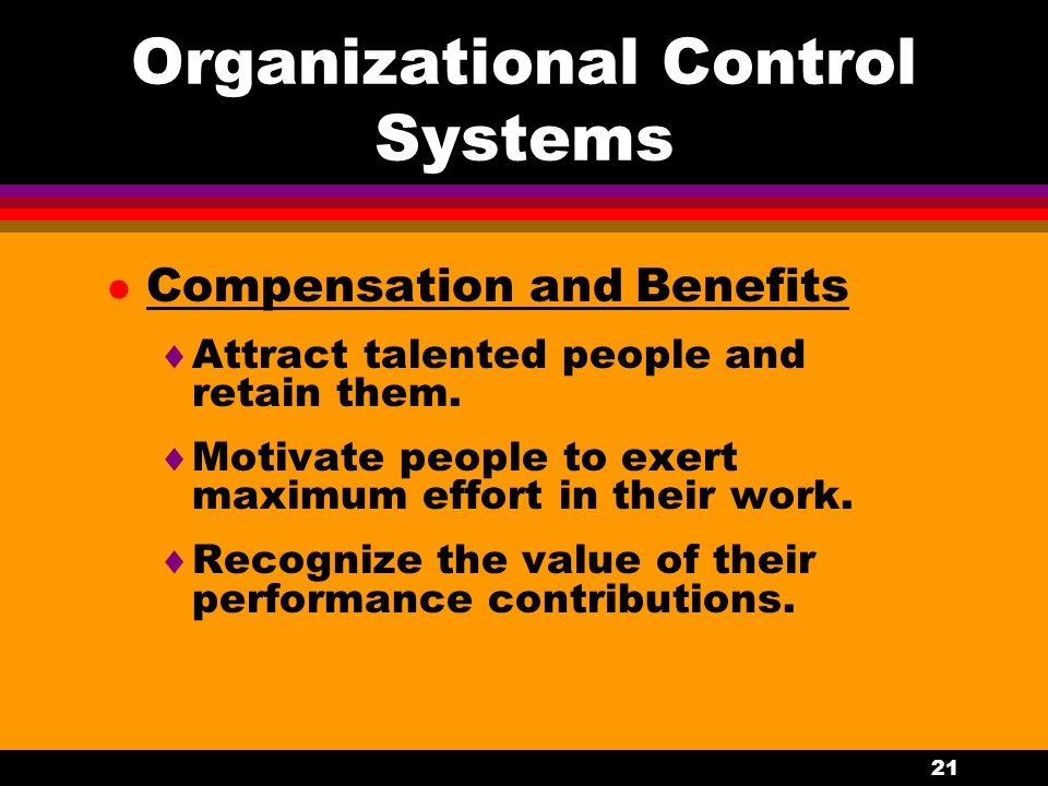 Organizational Control Systems