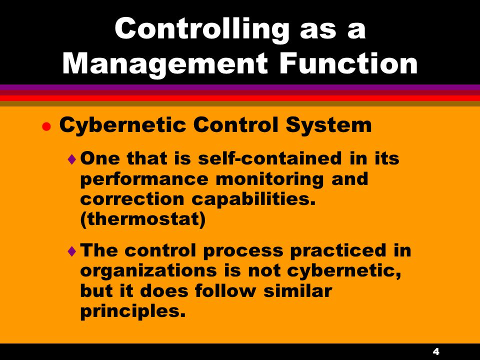 Controlling as a Management Function