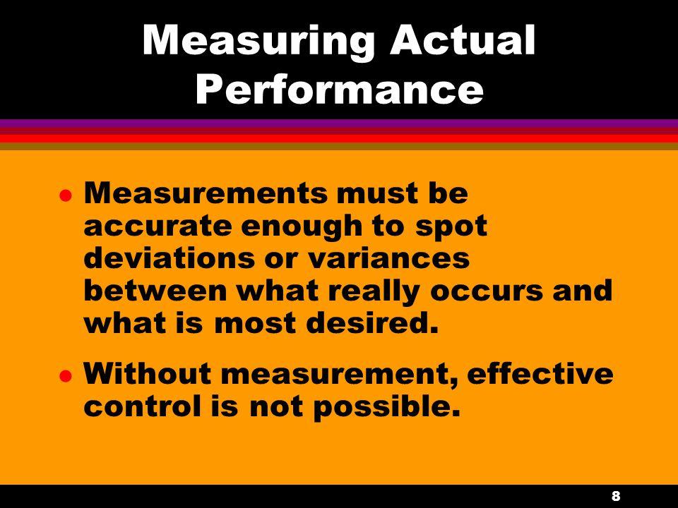 Measuring Actual Performance