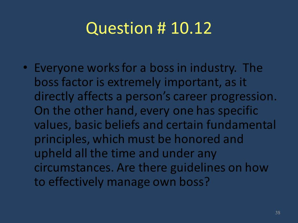 Question # 10.12