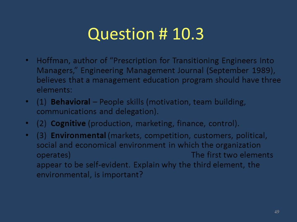 Question # 10.3