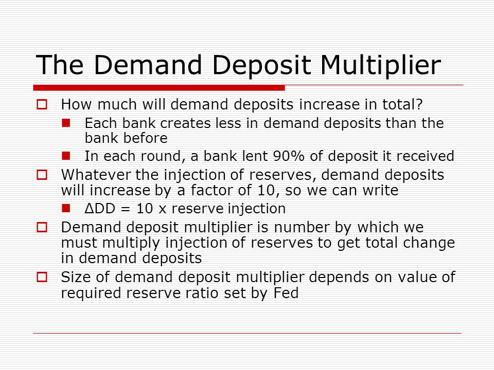 The Demand Deposit Multiplier