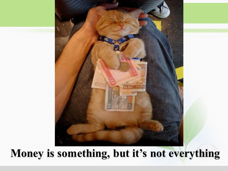 Money is something, but it's not everything