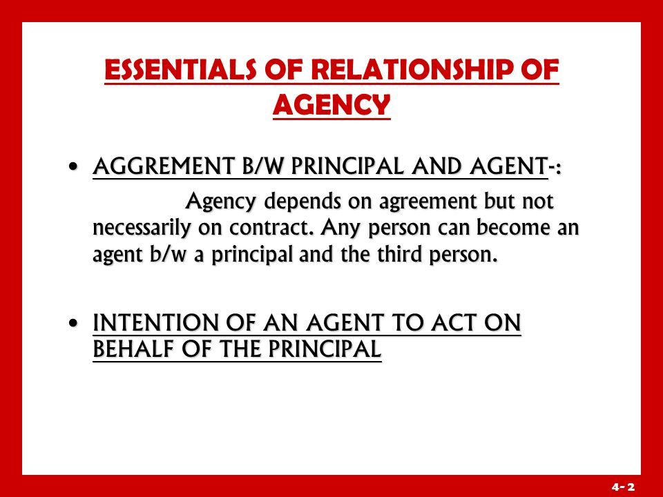 principal agent relationship definition male
