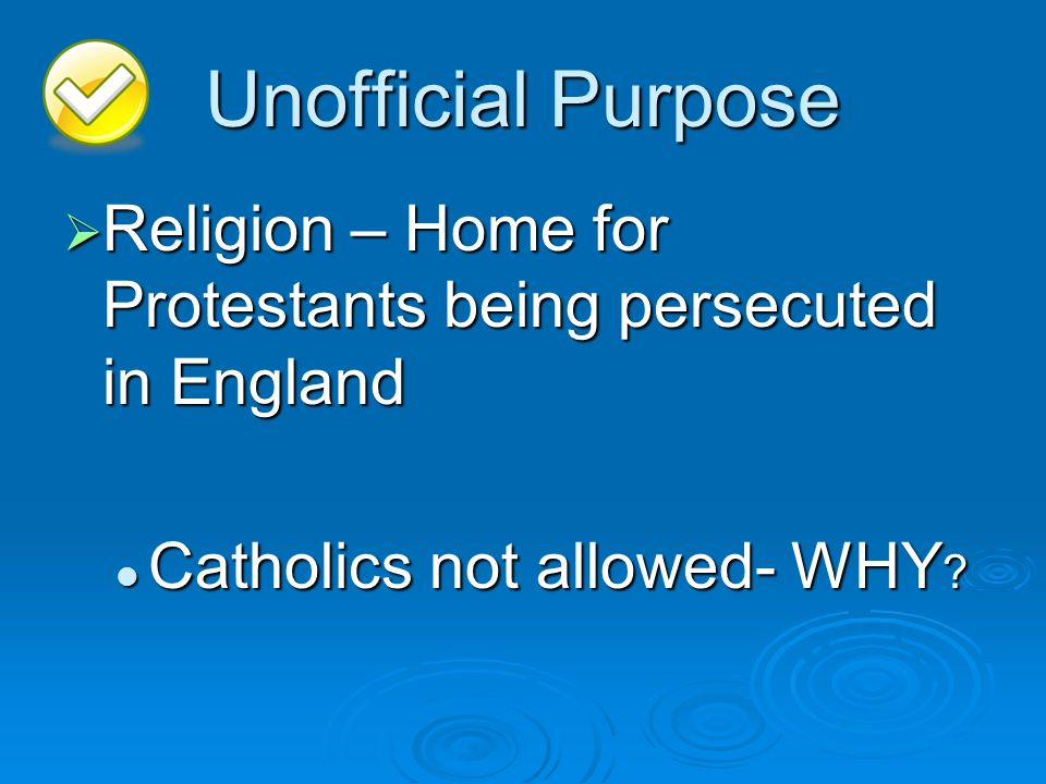 Unofficial Purpose Religion – Home for Protestants being persecuted in England.