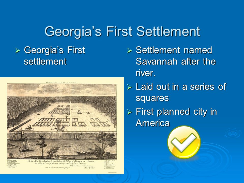 Georgia's First Settlement