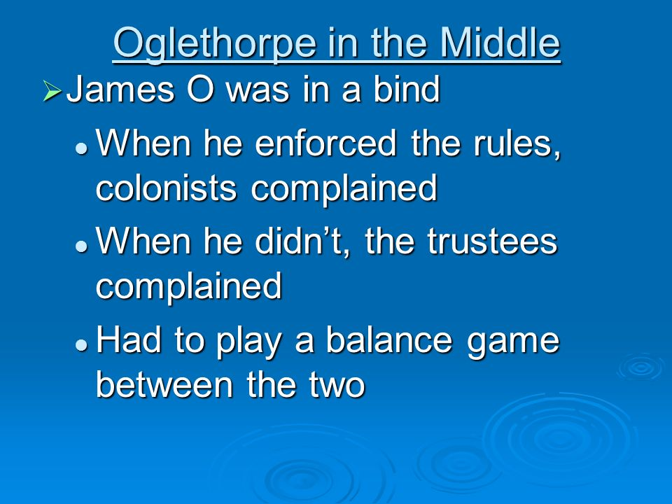 Oglethorpe in the Middle