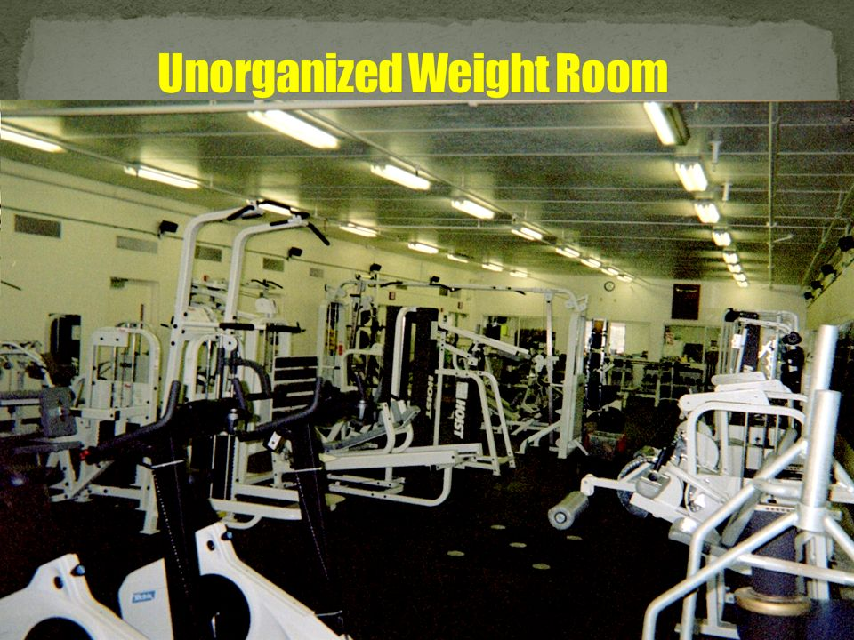 Unorganized Weight Room