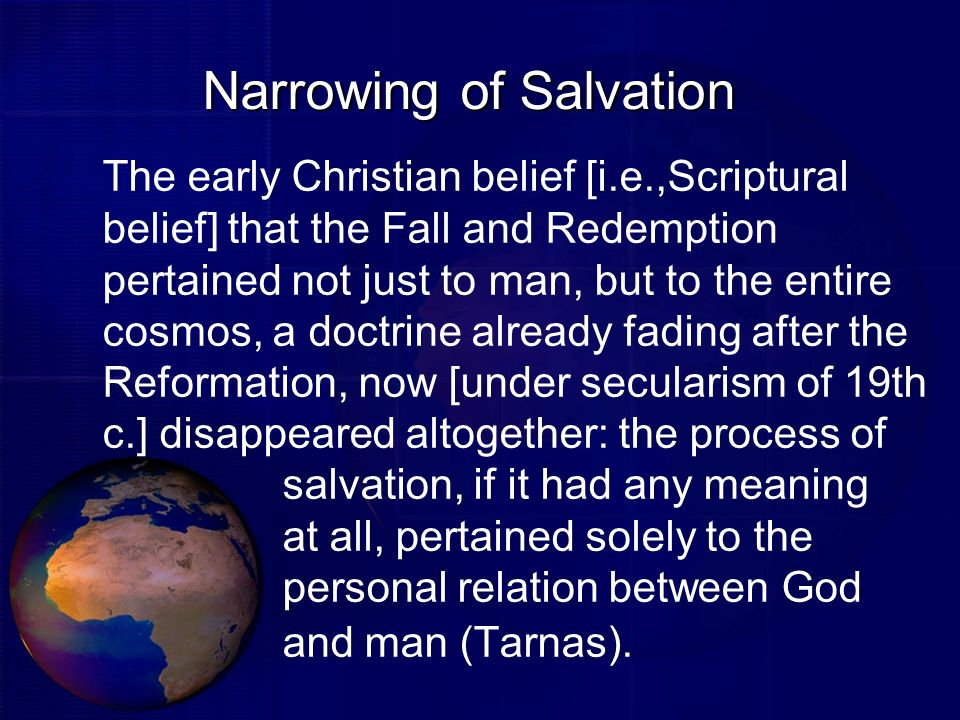 Narrowing of Salvation