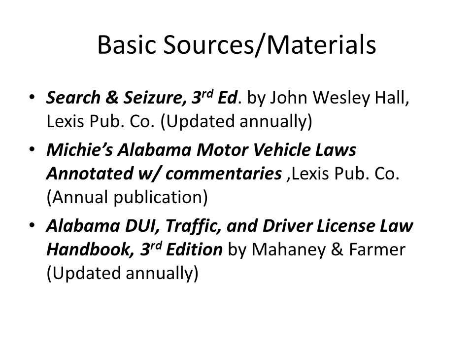 Basic Sources/Materials