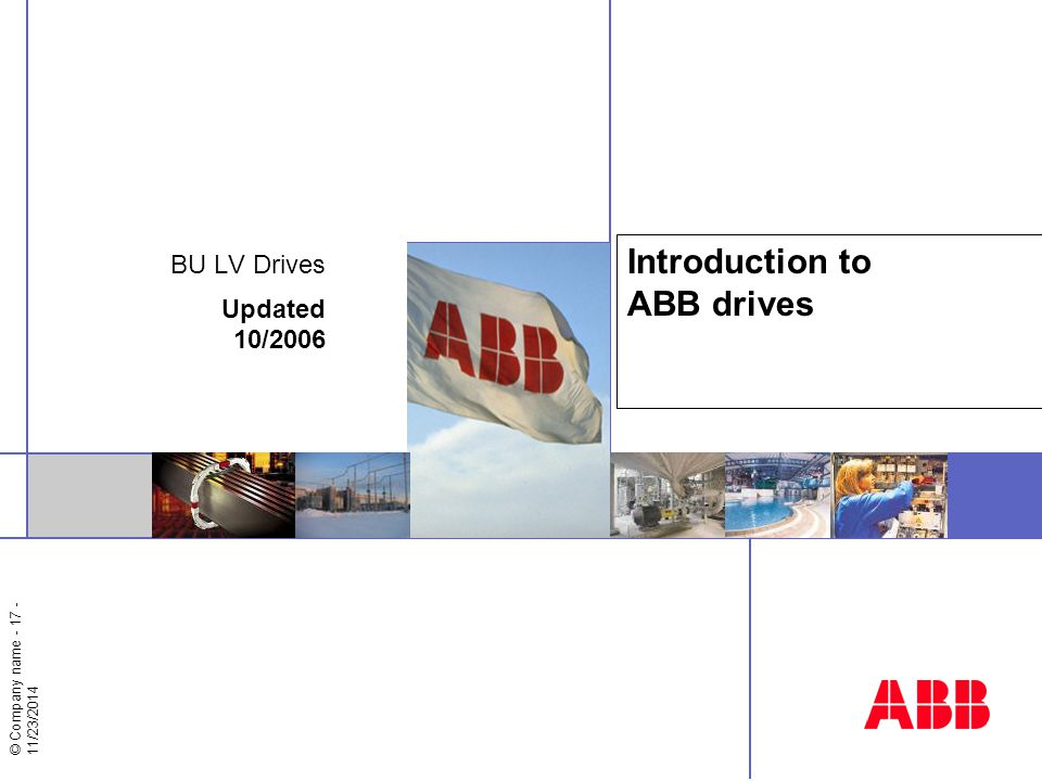 Introduction to ABB drives