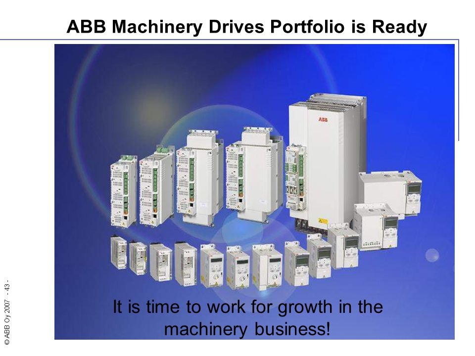 ABB Machinery Drives Portfolio is Ready