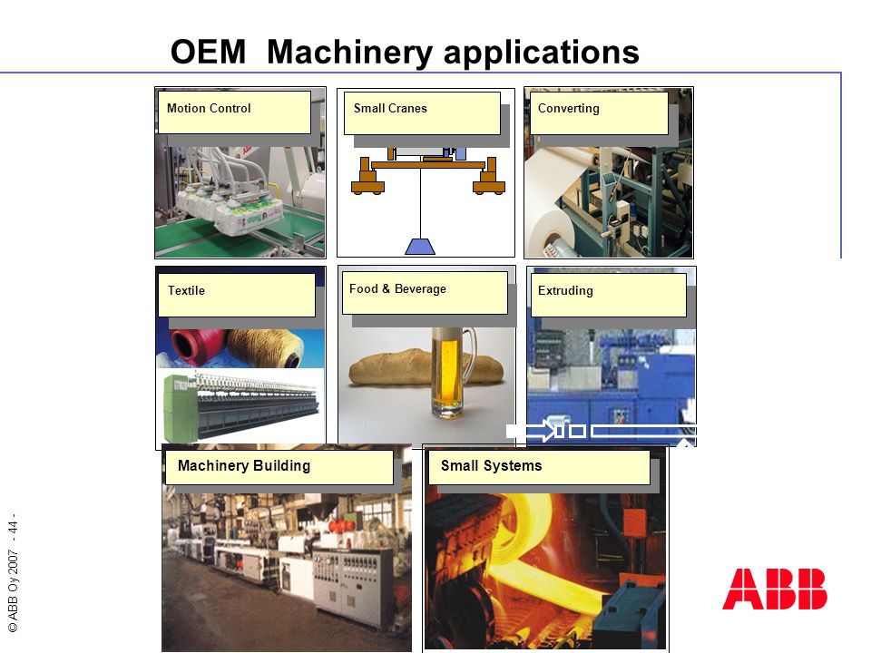 OEM Machinery applications