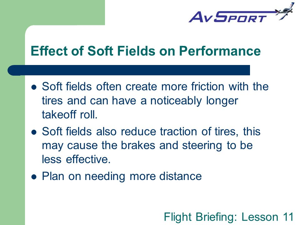 Effect of Soft Fields on Performance