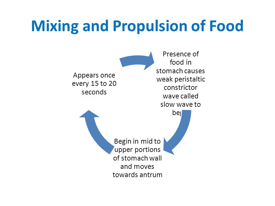 Mixing and Propulsion of Food