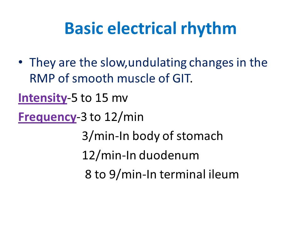 Basic electrical rhythm