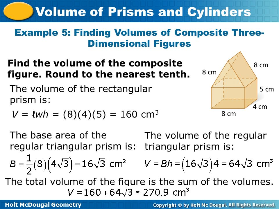 Example 5: Finding Volumes of Composite Three-Dimensional Figures