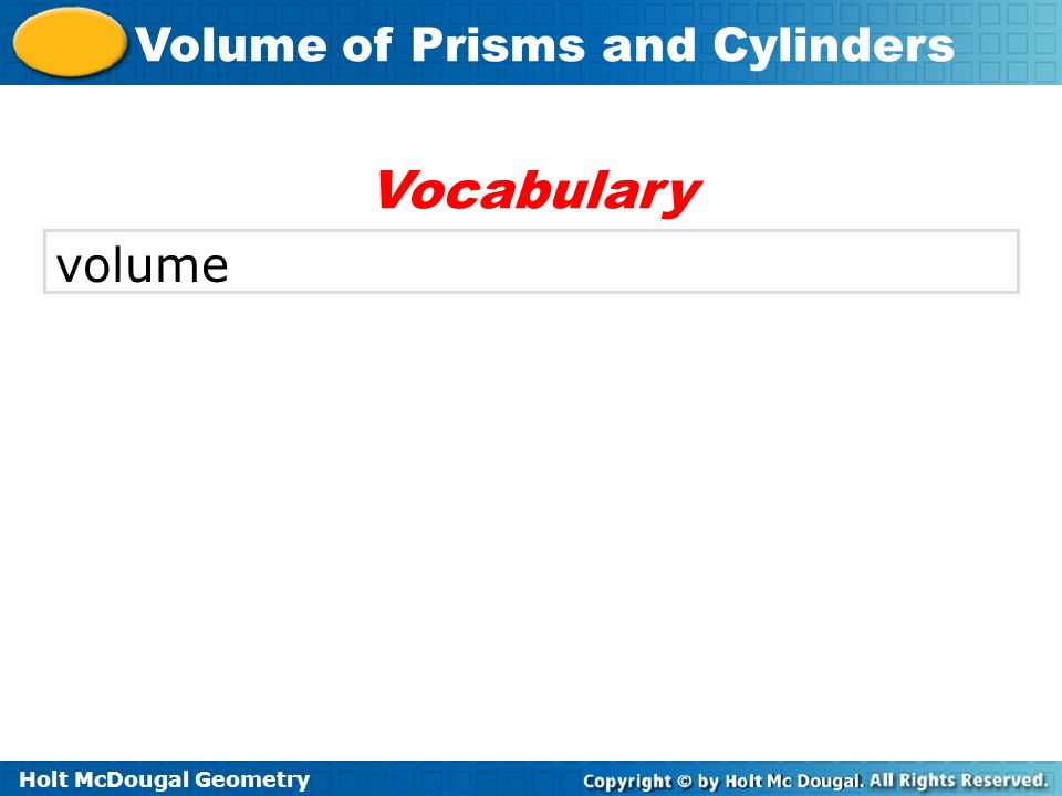 Vocabulary volume