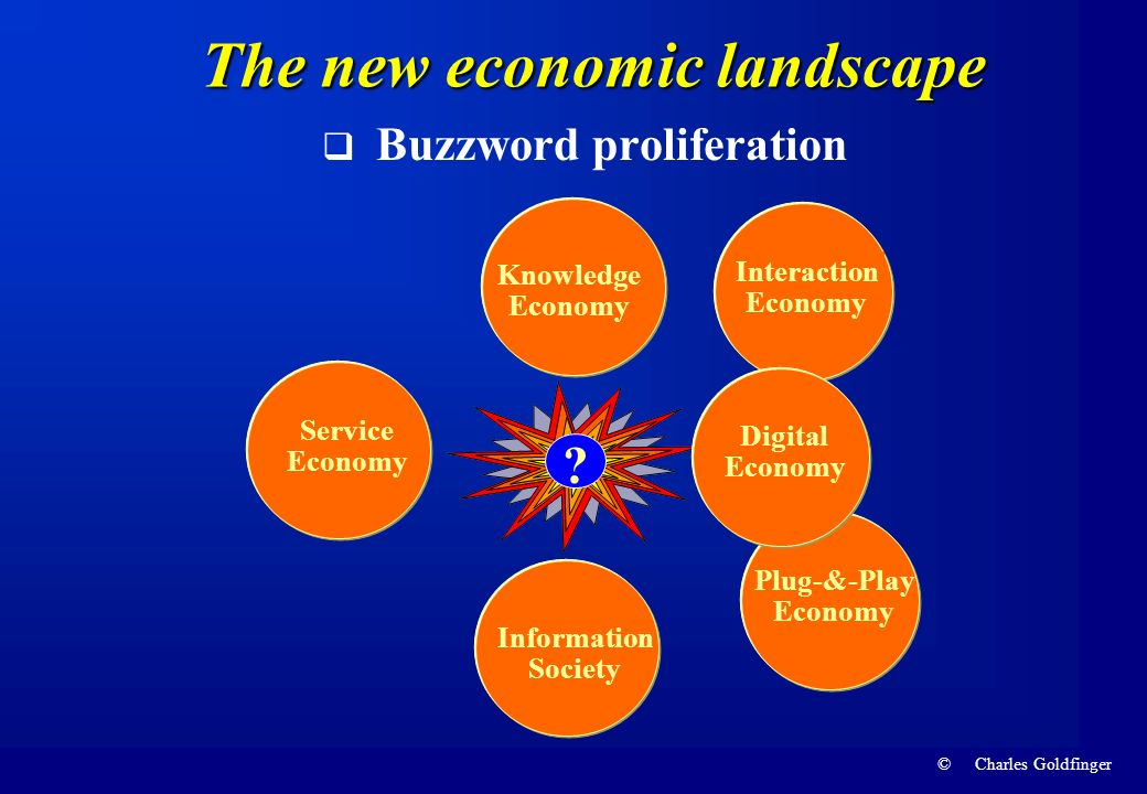 The new economic landscape